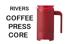 コーヒープレス RIVERS COFFEE PRESS CORE 【RED(レッド)】